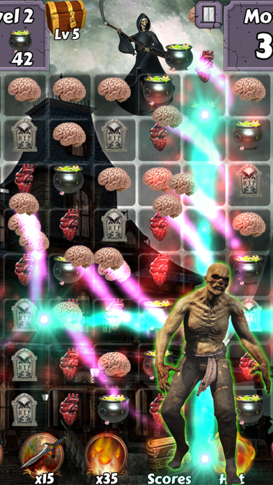Zombie Mania Halloween World - Free puzzle games for trick or treat screenshot one