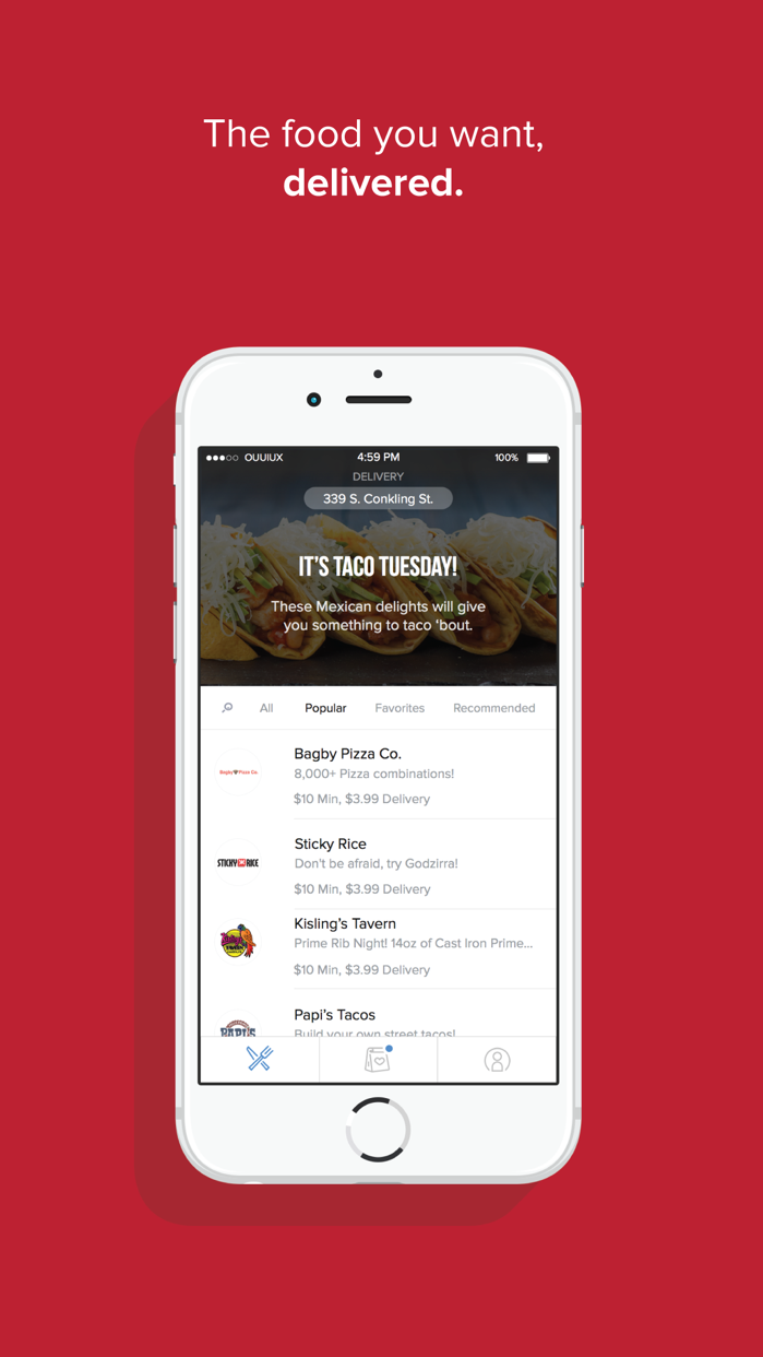 OrderUp - Food Delivery Screenshot