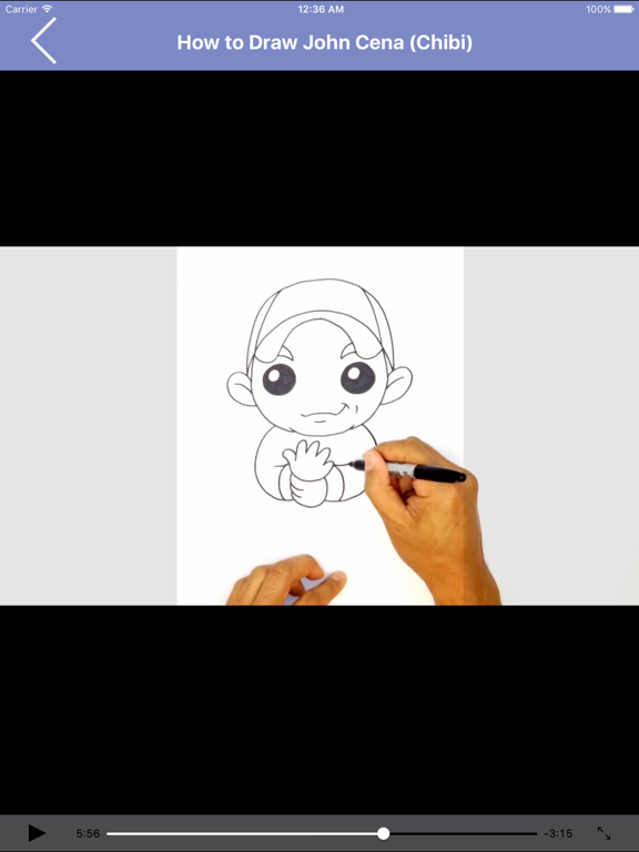 Learn to Draw Popular Characters Step by Step for iPad screenshot one