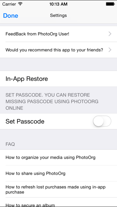 Photo Org For Facebook Picture And Video review screenshots