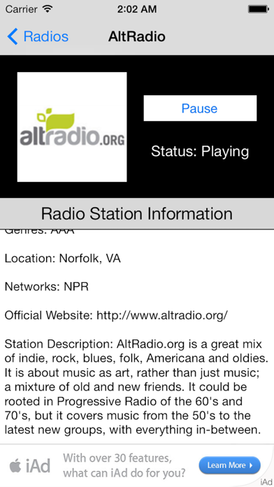 US Radio Live (United States of America USA) screenshot four