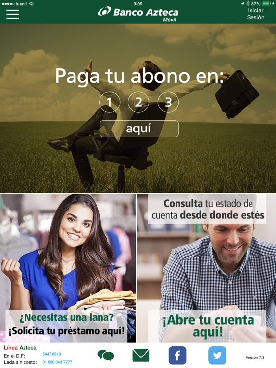 Banco Azteca Móvil Tablet