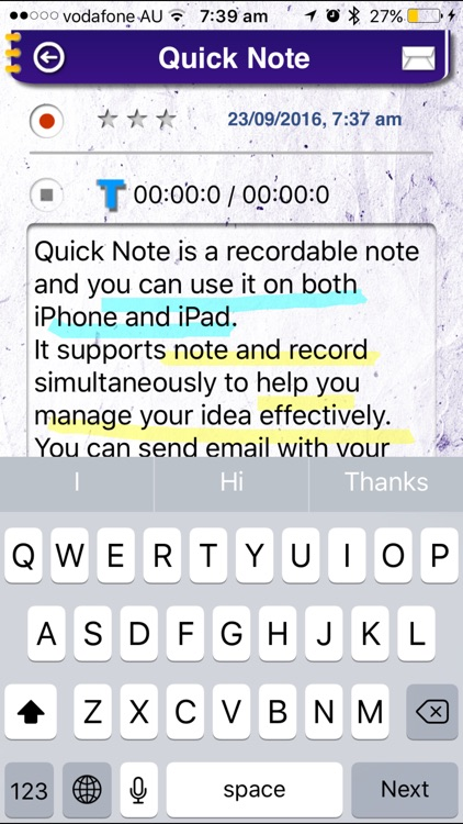 Quick Note Pro