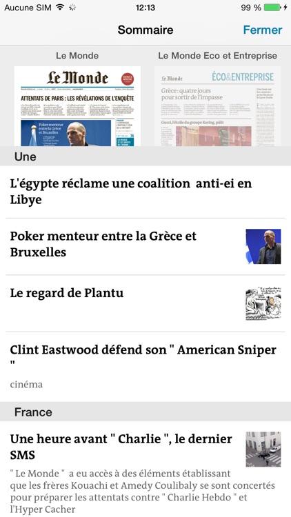 Journal Le Monde app image