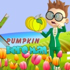 Hero man pumpkin stick jump games for free icon
