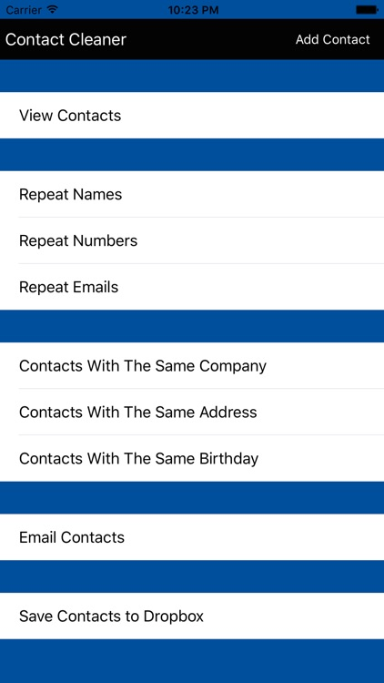 Contacts Cleaner & Backup Pro