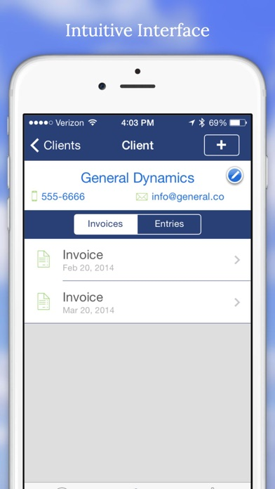 Screenshot #4 for Billing Hours - Business Time Tracking and Invoice Manager