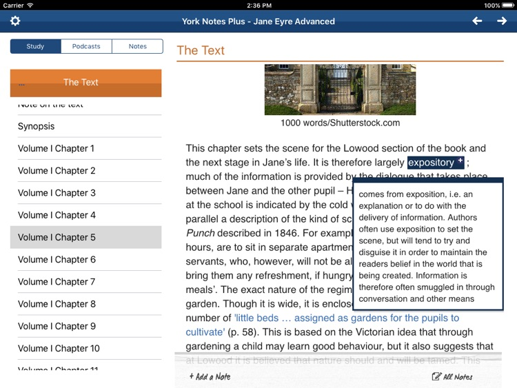 Jane Eyre York Notes Advanced for iPad