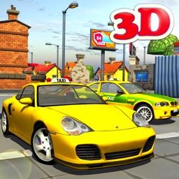 3d Taxi car driver Parking simulator free games