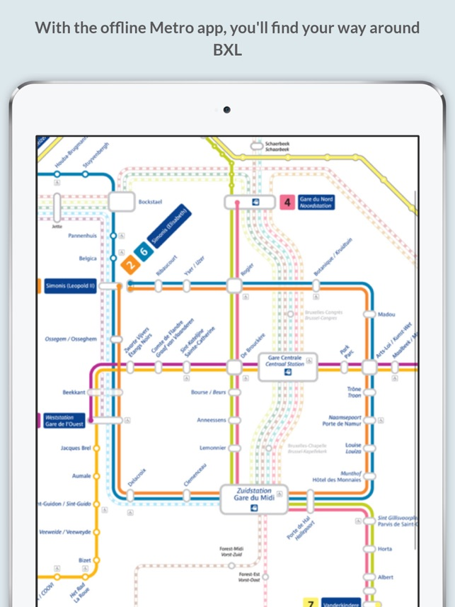 Brussels Metro Map On The App Store