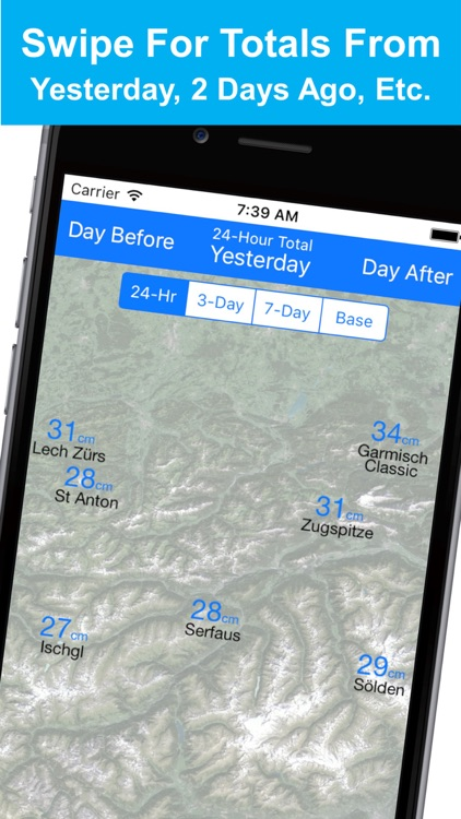 Alps Snow Map - Snow Reports screenshot-4