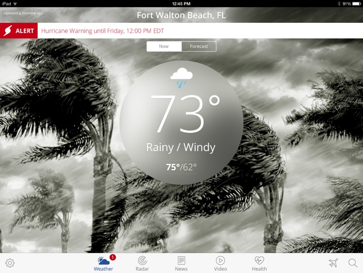 The Weather Channel App for iPad – best local forecast, radar map, and storm tracking screenshot-4
