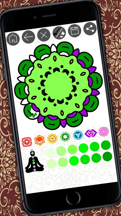 Mandalas coloring book – Secret Garden colorfy game for adults