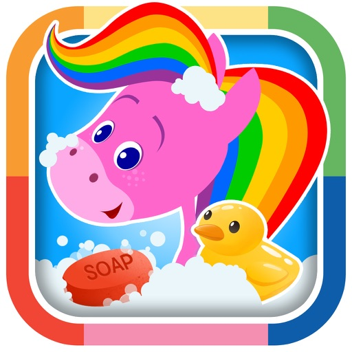 My Pet Rainbow Horse: Virtual Pet Game for Kids