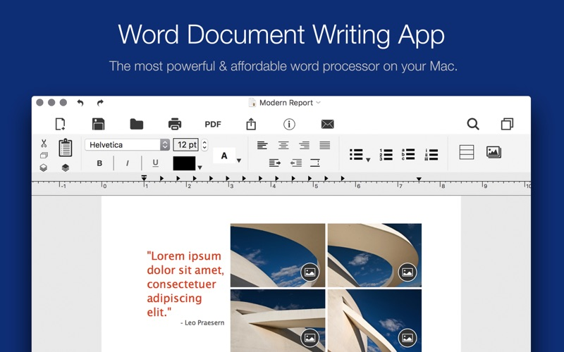 Word Document Writer Screenshot