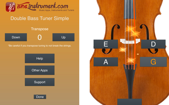 Double Bass Tuner Simple On The Mac App Store