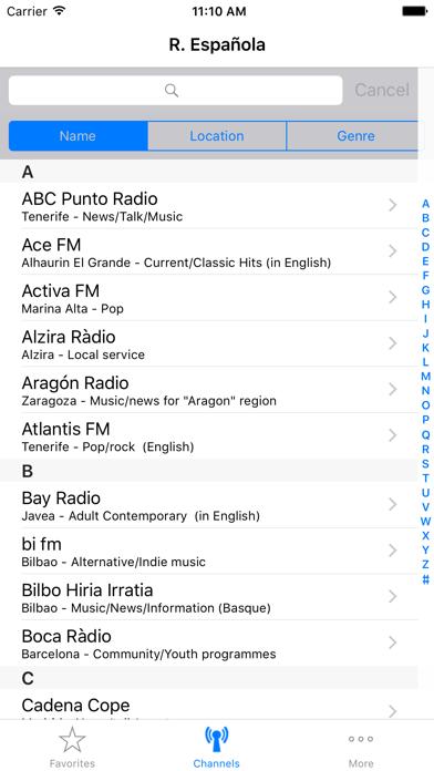 Radio Española (Radios from Spain)