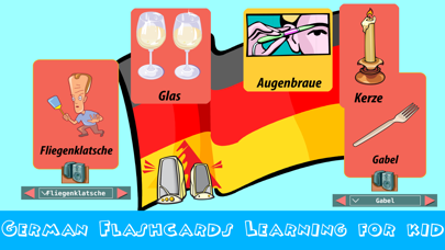 german flashcards -phonics reading educational games for