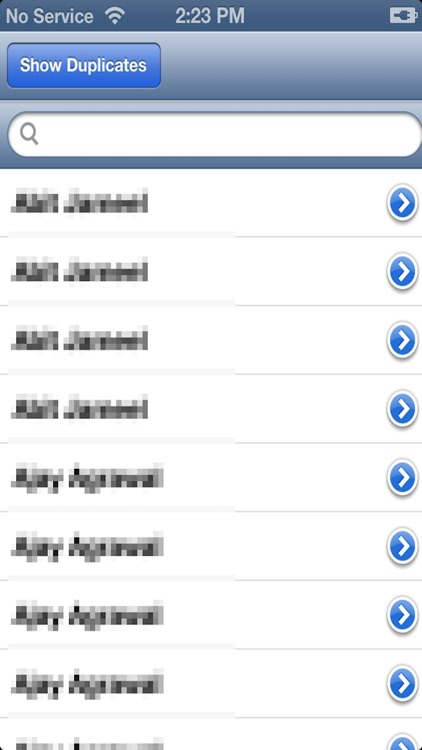 Show Duplicate Contacts