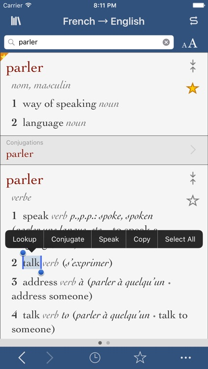 French-English Translation Dictionary and Verbs