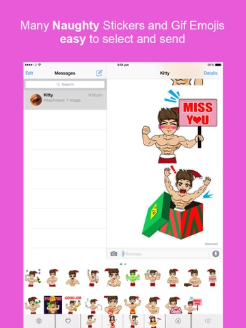 screenshot 1 for sexy keyemoji free dirty stickers and gif emojis keyboard christmas