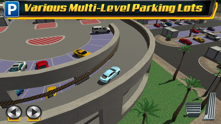 Multi Level 4 Car Parking Simulator a Real Driving Test Run Racing Games