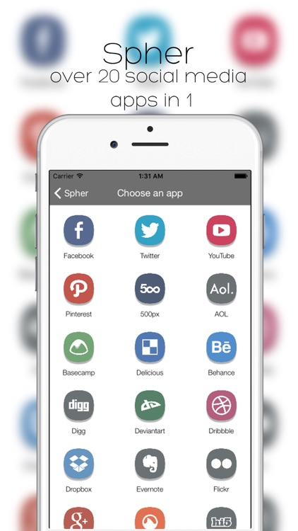 Spher - All Social Media Apps (In One)