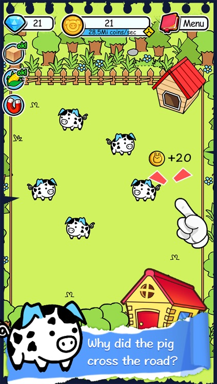 Pig Evolution | Tap Coins of the Family Farm Story Day and Piggy Clicker Game