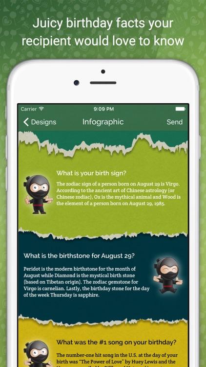 MyBirthday.Ninja - Send Happy Birthday Greeting Cards The Ninja Way
