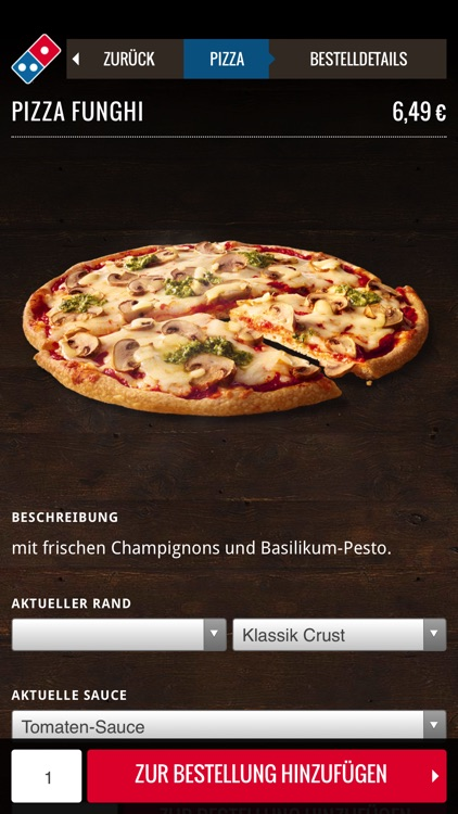 Domino's App für das iPhone screenshot-2