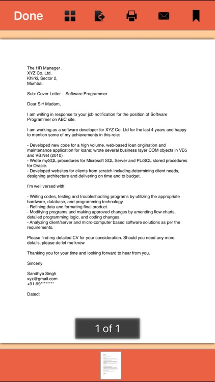 Cover Letter -  145 Templates for Any Job screenshot-3