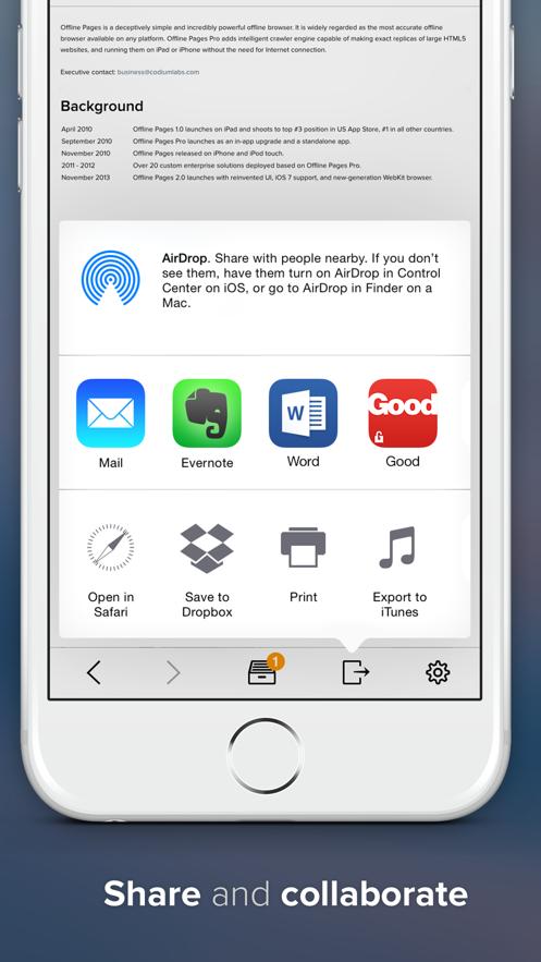 Offline Pages Pro - 带离线网页阅读器的浏览器 App 截图