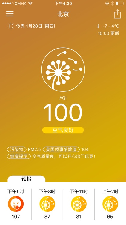 PM2.5 Forecast Haze - Airhuxi
