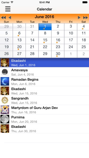 Desi Calendar on the App Store