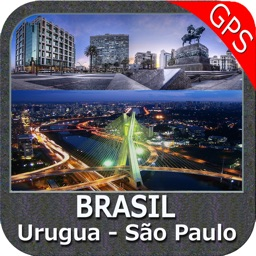 Boating Urugua to São Paulo - Brazil gps offline nautical charts for cruising fishing sailing and diving