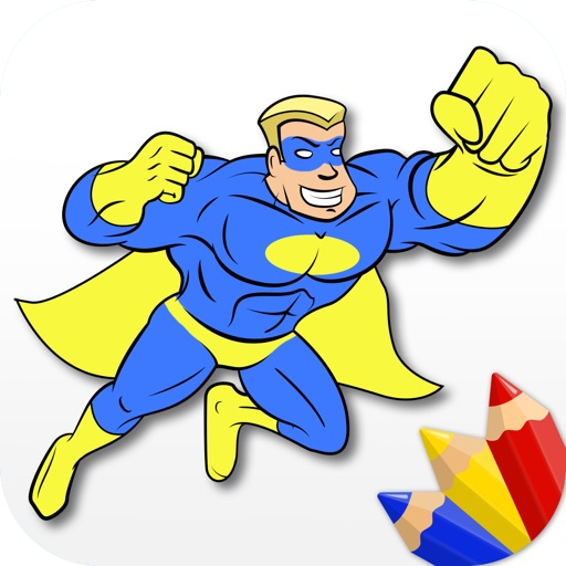 Superheroes - Coloring Book for Little Boys and Kids - Free Game