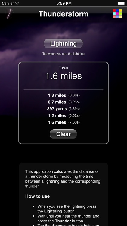 Thunderstorm Calculator screenshot-2