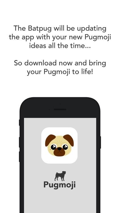 Pugmoji sticker keyboard by The BatPug screenshot-3