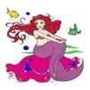 Kids Coloring Book - Cute Cartoon Mermaid 6
