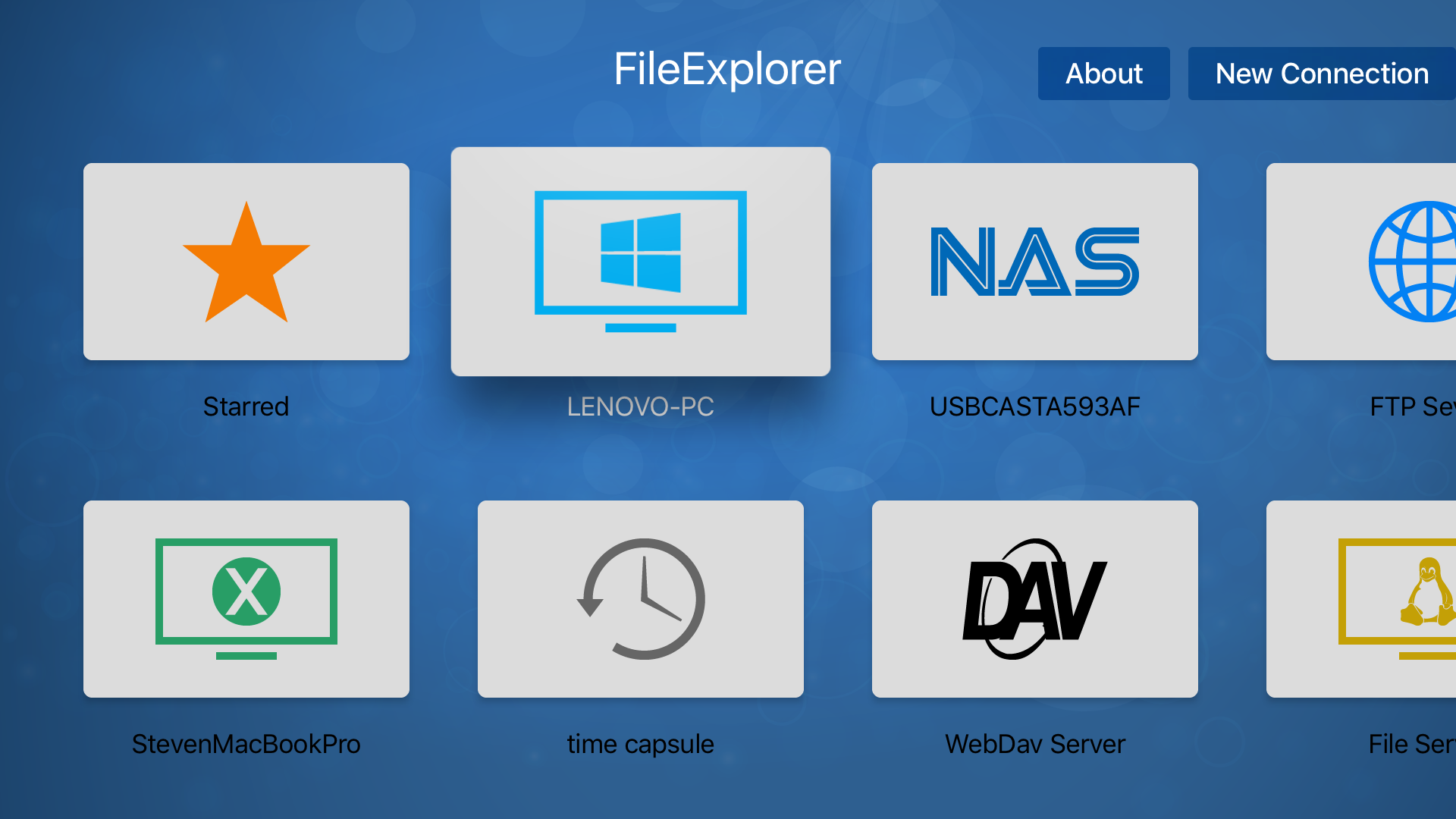 FE File Explorer TV screenshot 1
