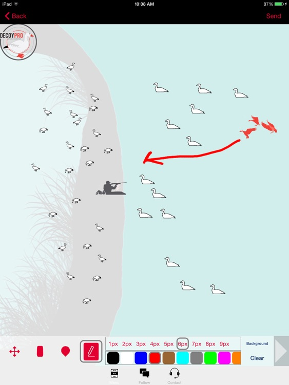 Snow Goose Hunting Diagram Builder Goose Hunting screenshot-0