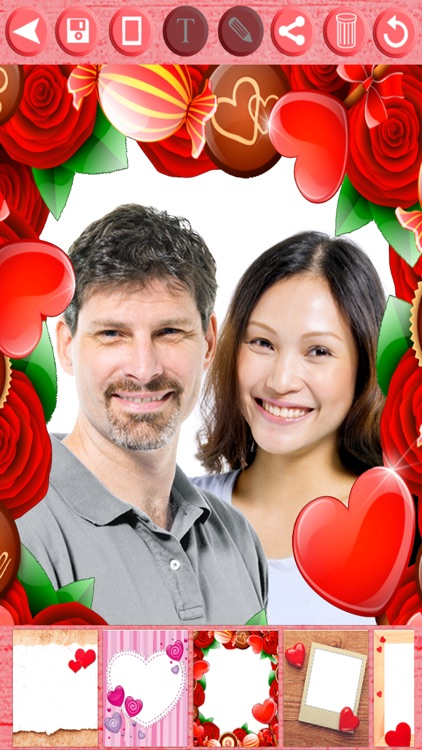 Valentine love frames - Photo editor to put your Valentine love photos in romantic love frames screenshot-3
