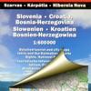 Словения, Хорватия, Босния и Герцеговина. Автодорожная карта
