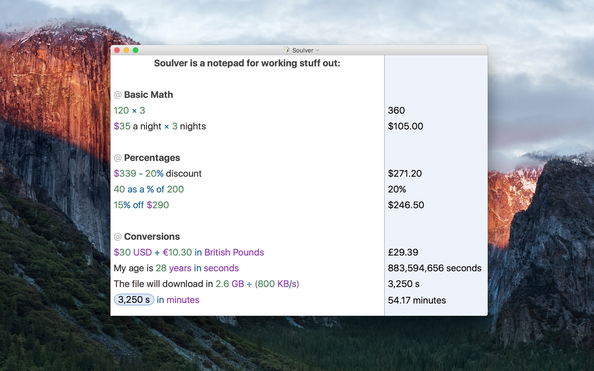 Soulver 3 Mac 破解版 Mac 上强大的多功能计算器-麦氪搜(iMacso.com)