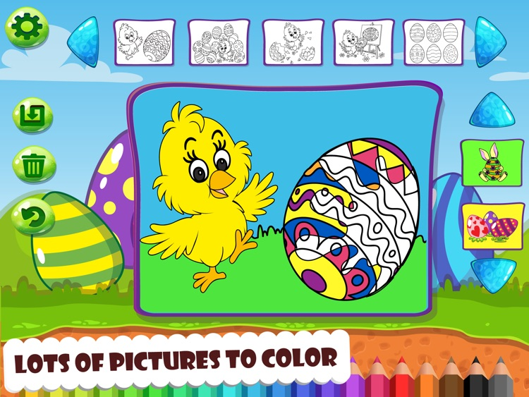 Easter Word Match and Coloring