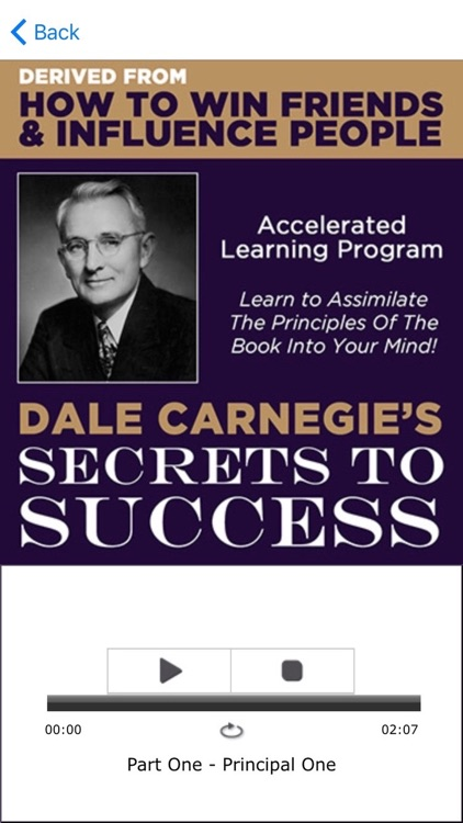 Dale Carnegie's Secrets To Success derived from, How To Win Friends and Influence People: Teachings on Acquiring Friends, Wealth, Wisdom and Success. screenshot-3