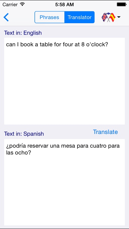 Spanish-English Restaurant Translator (Offline) screenshot-3
