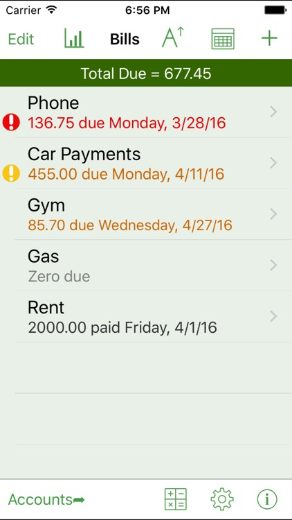iCheckBalance: Checkbook & Bills Tracker screenshot-3