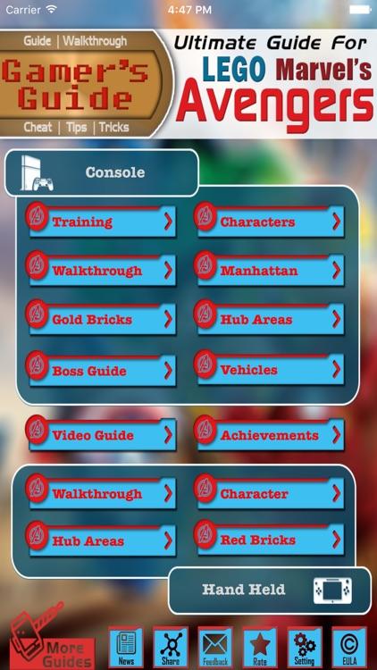 Gamer's Guide for Lego Marvel's Avengers