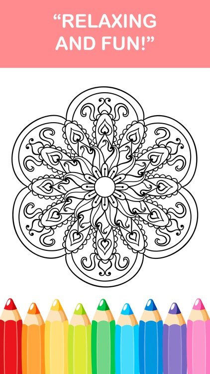 mandala coloring book - adult colors therapy free stress relieving pages screenshot-4